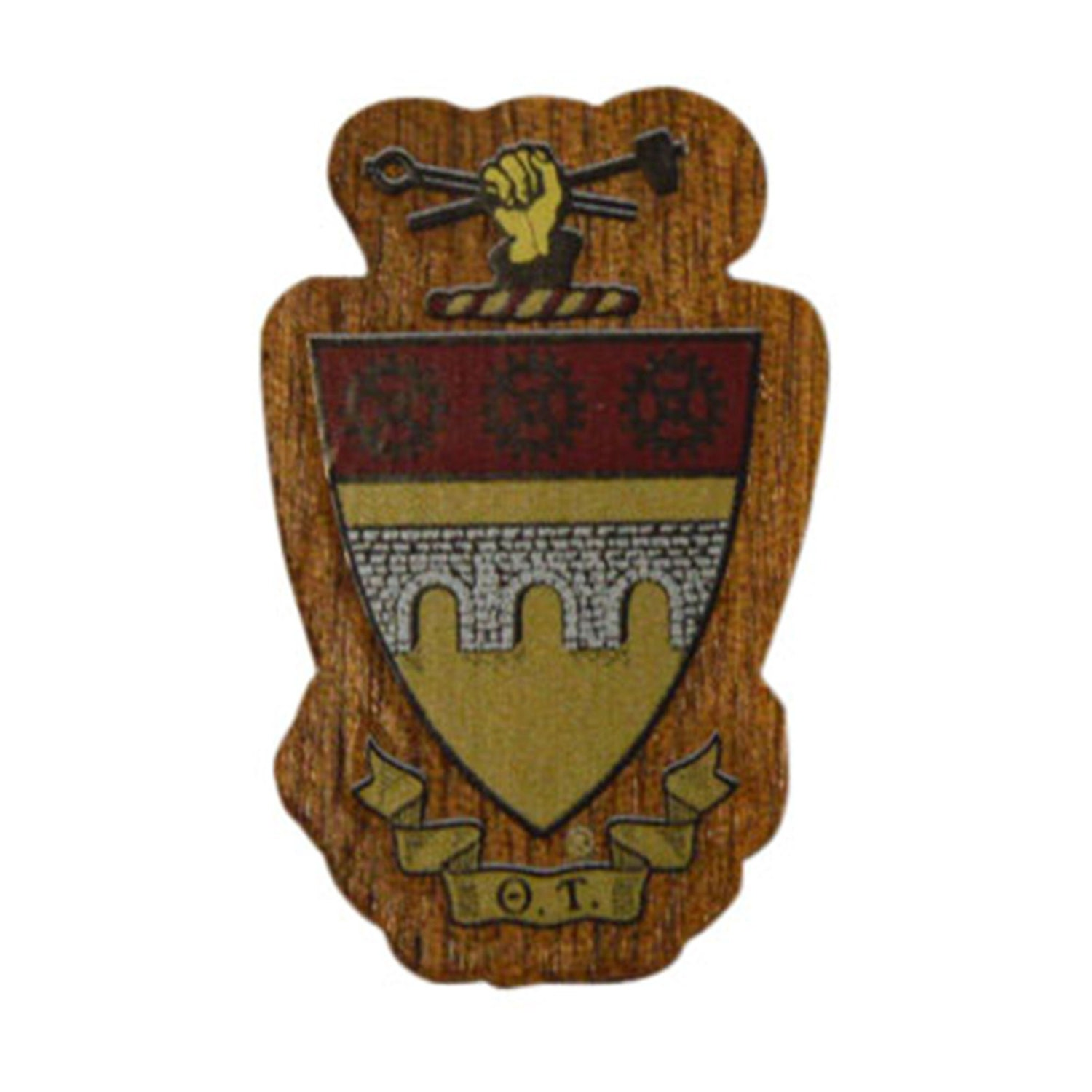 Theta tau fraternity mini wood crest for paddles mascot zoom buycottarizona Image collections