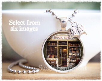 Book Necklace • Book Lover Gift • Literary Necklace • Gifts For Librarian • Reader Gift • Book Pendant
