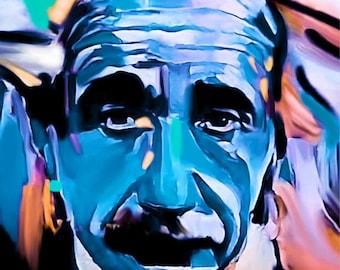 Albert Einstein Punk StreetArt/Genie/ Painting/MetalPrint/Canvas/WoodPrint/Pop Art/Decorative/Poster/Modern Art/Men/Plexiglas/StreetArt/XXL