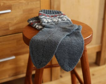 Hand Knitted Wool Socks | Warm Winter Socks | 100% Wool | from Latvia
