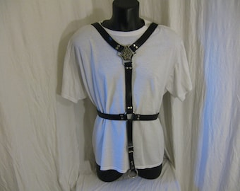 Male Body/Chest Harness with Adjustable Crotch Strap