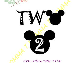 Mickey mouse, Disney, Twodles, Second birthday, 2nd birthday, Birthday shirt, Mickey birthday, Disney birthday, Birthday outfit, Disney svg