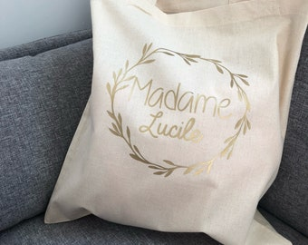 Tote bag, Mrs OR first and last name