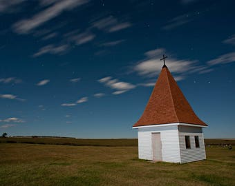 Vintage, Americana, Church Steeple, Rural Landscape, Small Building