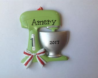 Best Baker Chef Mixing Bowl Personalized Christmas Ornament #1 Chef, Cook, Culinary artist, Baking Party - Free Personalization