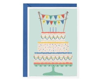 Hip Hip Hooray (Cake) - Birthday Card
