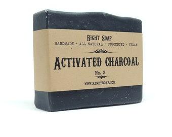 Charcoal Soap Activated Charcoal Handmade Soap Acne Soap Vegan Soap All Natural Soap Bar Facial Soap Detox Soap Organic Soap Unscented Soap