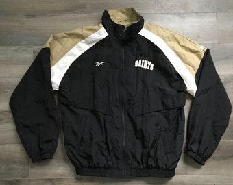 Vintage 90s New Orleans Saints Reebok Windbreaker, Full-Zip, Men's Large