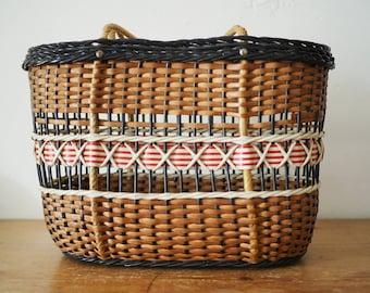 Vintage Basket - Vintage Bag - Basket Bag