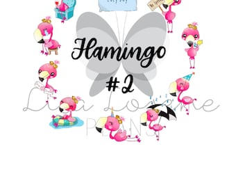 FLAMINGO #2 Activities Sampler & Individual Sheets   compatible with all planners   C6
