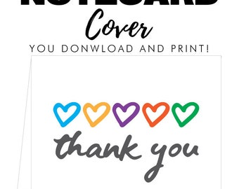 R+F Thank You Notecard Cover