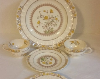 Copeland Spode China Buttercup 5 Pieces