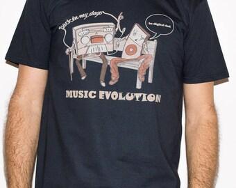 Music Evolution - back in my days / MSC 22 - Music DJ Man T-shirt