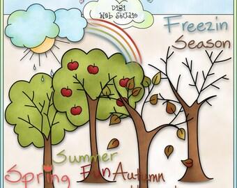 Seasons Trees 1 - Digi Web Studio Clip Art by Country Life Graphics for PU & CU