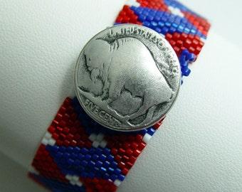 Red White and Blue Buffalo Cuff