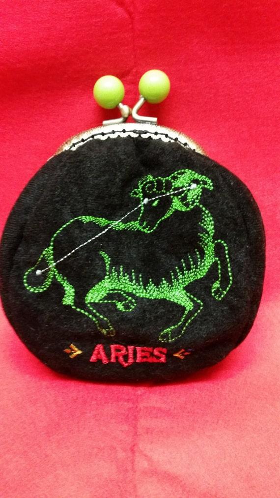 SALE..SALE..Star sign coin purse.  Aries.  L030
