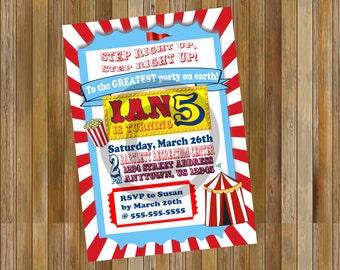 Carnival Themed Invitation
