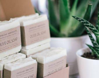 50 bars of olive oil soap -  Castile Soap -  Unscented Soap - Natural Soap,Vegan Soap - Handmade Soap- Soap Gift - Soap Favors