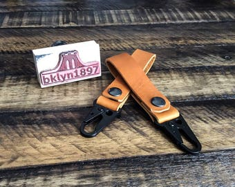 Horween Baseball Glove Leather Key Fob, Leather Keyring, Leather Keychain