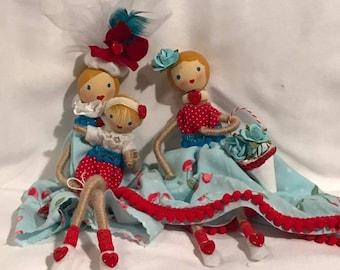 Dolls, Wire dolls, Clothespin Dolls, Art Dolls