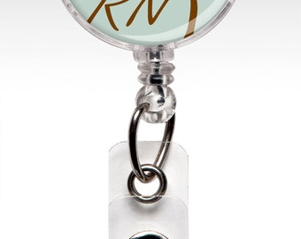 RN Badge Reel - Nurse Badge Reel - Mint Green - Retractable ID Badge Holder - Nurse Gift - Gift under 10 - Teacher 351