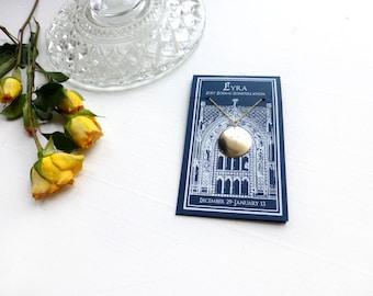 Lyra Constellation//Constellation necklace/Lost Zodiac/Brass/ 14K Gold or Sterling Silver//Gift for Musician//Vega Namesake//Gift for Grad