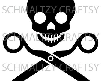 Jolly Roger Scissors Crafter Sewer Quilter SVG & PNG Cutting File for Cricut Silhouette Cameo