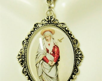Our Lady of Sorrows pendant and chain - AP09-222