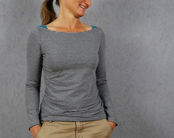 MissMarlene - Basic shirt with shoulder inserts