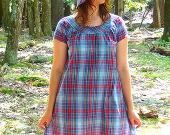 smock dress with short sleeves -- made to order