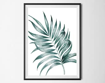 Tropical Leaf Wall Print, Tropical Print, Home Decor, Botanical Wall Print, Plant Leaf Print, Botanical Leaves