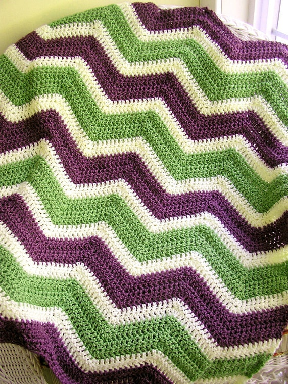 New Chevron Zig Zag Baby Blanket Afghan Wrap Crochet Knit
