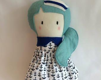 Little Sailor Doll * Cloth Doll * Rag Doll * Fabric Doll * Handmade Doll * Cute Doll * Girls Gift * Baby Gift