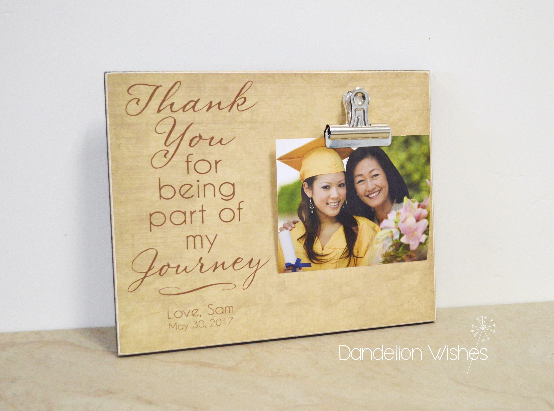 Abschluss-Fotorahmen danke Geschenk für Eltern oder Mentor