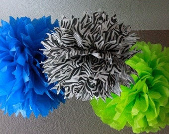 10 Tissue Poms - Your Color Choice- SALE - Wedding - shower - Birthday - Graduation - Decoration