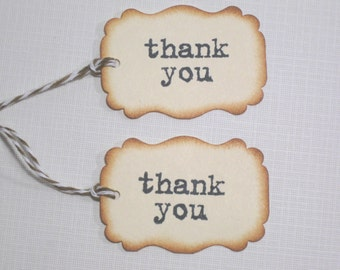 10 Wedding Tags for Favors  Thank You Favor Tags  Wedding Favors  Bridal Shower Tags  Party Favors  Baby Shower Tags