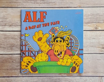 Alf A Day At The Fair Vintage TV Show Book 1980s Comedy Show TV Nostalgia Carnival Themed Gift TV Sitcom Tanner Family Alf Alien Life Form