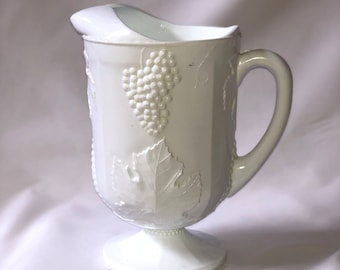 Large White Milk Glass Pitcher