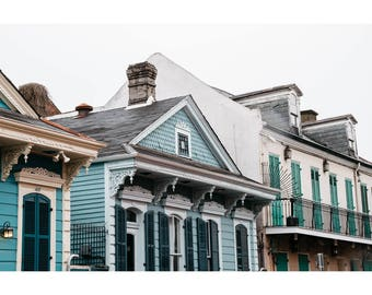 New Orleans French Quarter Photography NOLa Art Architecture Photography Pastel Houses Print New Orleans House Photography