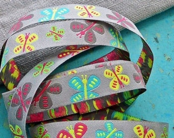 Ribbon tie farbenmix 15mm by the yard