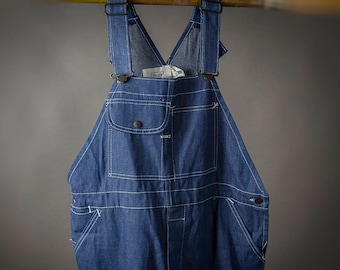 "Vintage 1960s SEARS New ""Dead Stock"" Denim Overalls, Retro 60s ""Dead  Stock"" Workwear Overalls, Retro 60's SEARS Farm Workwear Overalls"