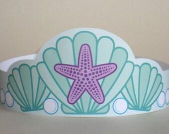 Mermaid Paper Crown - Printable
