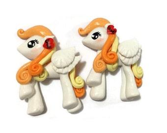 Unicorn Cabochon - Little Pony Clay work 1 pcs -UC054