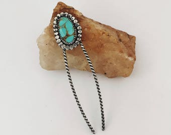Small Daisy Tyrone Turquoise Hairpin