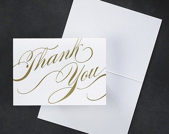 Modern Flair Wedding Thank You Notes (Pack of 50)