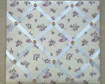 Memo/Pin Board in Heather Rosebud fabric - Medium