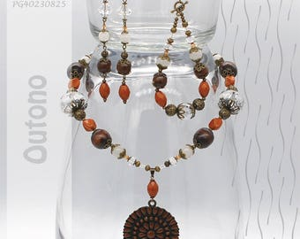 Jewelry Set | Necklace, Bracelet, Earrings | Outono PG40230825