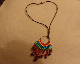 PUT LONG LEATHER NECKLACE