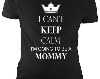 PandoraTees Can't Keep Calm Maternity T-Shirt
