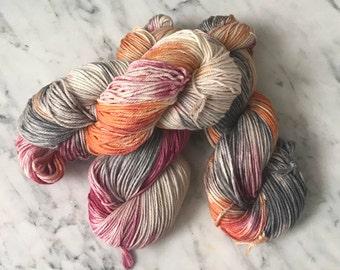 "DK 4 ply 100% New Merino wool yarn ""Beach Coral"""